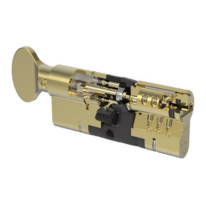 Brass Thumbturn Yale Anti Snap Euro Cylinder Lock 95mm, available at Anglian Home Improvements