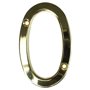 Gold house number zero, buy online at Anglian Home Improvements