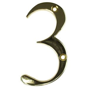 Gold house number three, buy online at Anglian Home Improvements