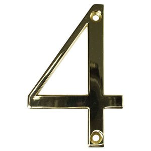 Gold house number four, buy online at Anglian Home Improvements