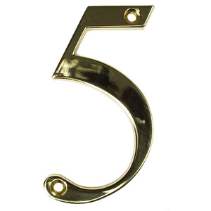 Gold house number five, buy online at Anglian Home Improvements