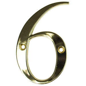 Gold house number six, buy online at Anglian Home Improvements