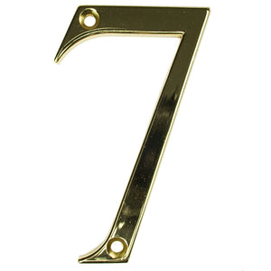 Gold house number seven, buy online at Anglian Home Improvements