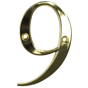 Gold house number nine, buy online at Anglian Home Improvements