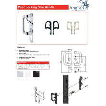 Load image into Gallery viewer, Aluminium Patio Door Handle Features