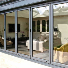 Load image into Gallery viewer, Closed Anglian Bifold Doors with Bifold door Magnet/Catch