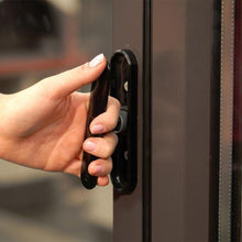 Load image into Gallery viewer, Black Pop Out Aluminium Bifold Door Handle on Aluminium Bifold Doors