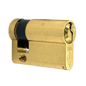 Brass Euro Half Cylinder Lock 50mm, available at Anglian Home Improvements