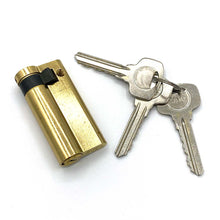 Load image into Gallery viewer, Brass Euro Half Cylinder Locks 50mm, available at Anglian Home Improvements