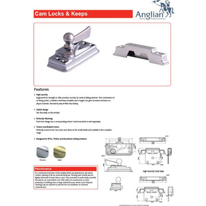 Sash Window Cam Lock Keep Features