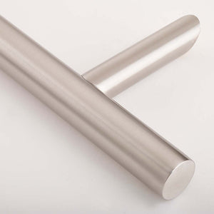 Chrome 1200mm Door Pull Handle join close up, available from Anglian Home Improvements