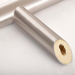 Classic T-Bar Chrome 1200mm Door Pull Handle Thread