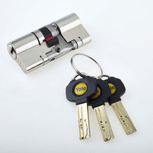 Load image into Gallery viewer, Nickle Patio Door Yale Anti Snap Euro Cylinder Lock, available at Anglian Home Improvements