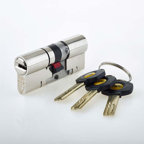 Nickel Yale Anti-snap Euro Cylinder Lock, buy now from Anglian Home Improvements