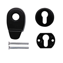 Load image into Gallery viewer, Black Door Pull Escutcheon Set from Anglian Home Improvements