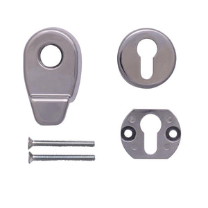 Chrome Door Pull Escutcheon Set from Anglian Home Improvements