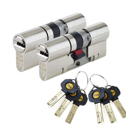 Double cylinder keyed alike yale lock, buy now at Anglian Home Improvements