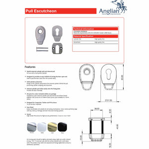 Door Pull Escutcheon features and specification