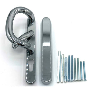 Chrome Patio Door Handles - external blank, buy now at Anglian Home Improvements