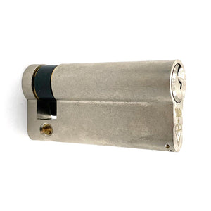 Nickel Euro Half Cylinder Lock 65mm, available at Anglian Home Improvements