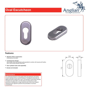 Elliptic Escutcheon features and maintenance