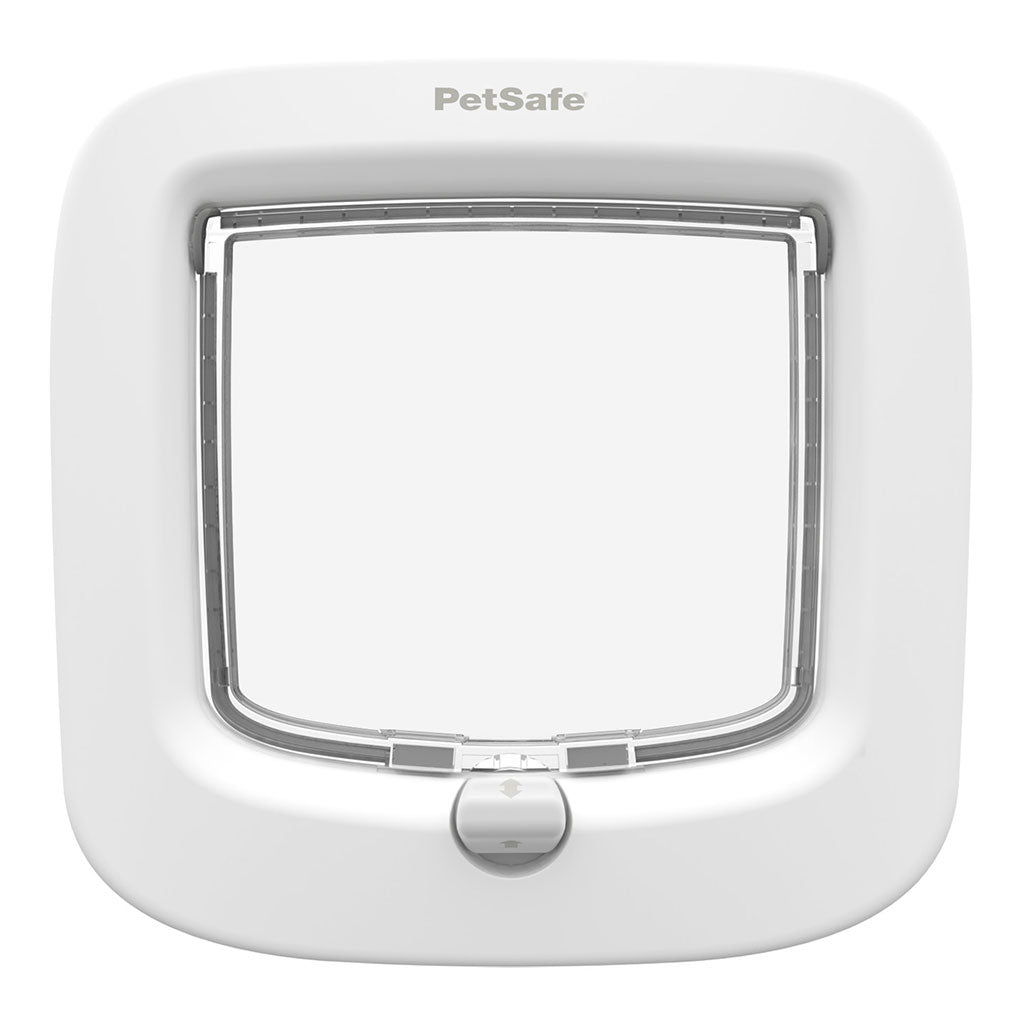 White pet safe cat flap from, buy online from Anglian Home Improvements