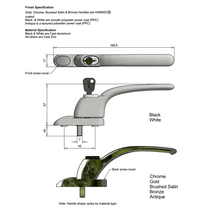 Load image into Gallery viewer, uPVC Casement Window Locking Handle diagram, buy now at Anglian Home Improvements
