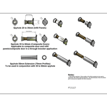 Load image into Gallery viewer, Spy hole fitting diagram, buy now at Anglian Home Improvements