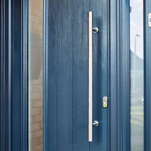 Load image into Gallery viewer, 800mm Door Pull Handle on blue composite door