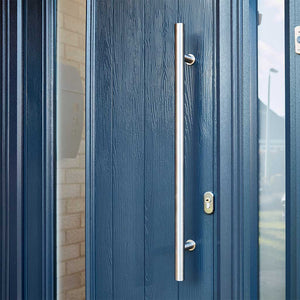 800mm Door Pull Handle on blue composite door