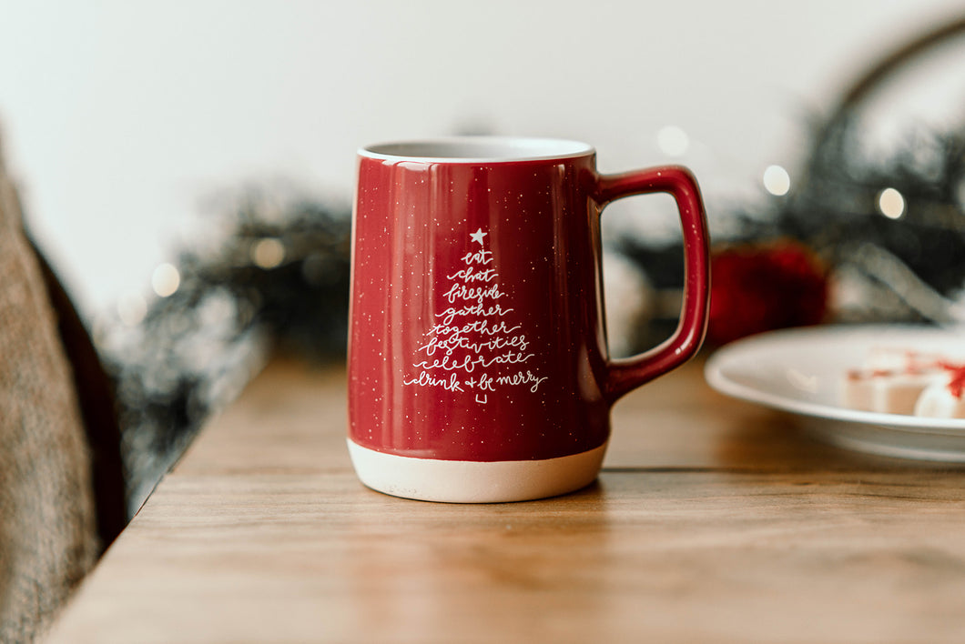 Speckled Christmas Tree Gather Mug - 12 oz