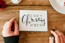 Load image into Gallery viewer, Cozy Christmas Vibes Greeting Card - Hand Illustrated Design - Eco Friendly Greeting Cards