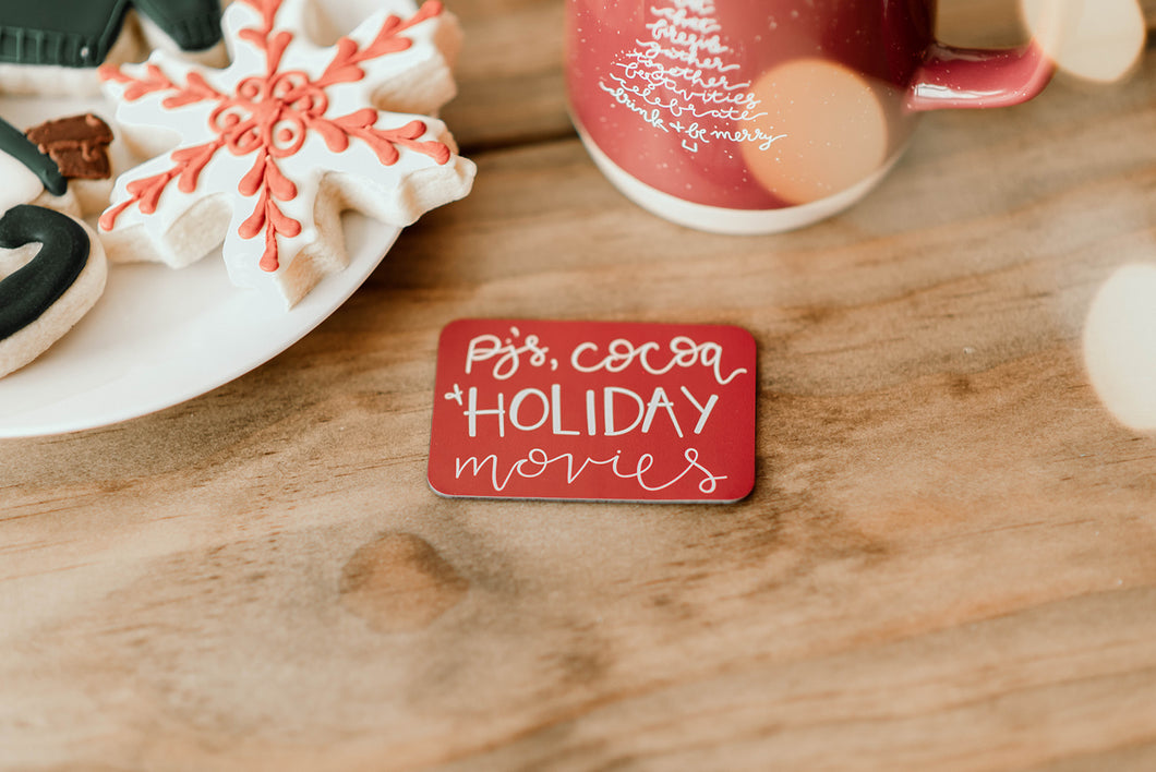 Pj's, Cocoa + Holiday Movies Magnet - 3