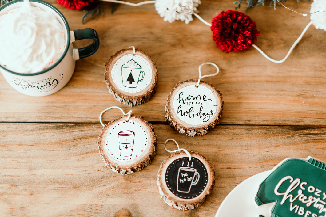 Hand Painted Rustic Ornaments