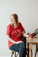 Load image into Gallery viewer, Tis the Season to Stay Inside - Red Unisex Holiday Tee
