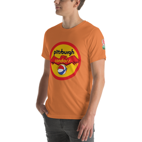 PITTSBURGH CONDORS | ABA OLD SCHOOL - Short-Sleeve Unisex T-Shirt