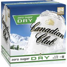 Canadian Club & Dry Zero Cube 375ml 24 Pack