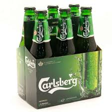Carlsberg Beer Bottle 330ml 6 Pack