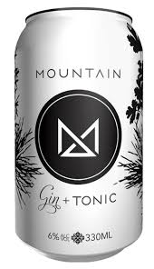 Mountain Gin & Tonic Can 330ml 4 Pack