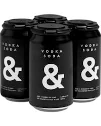 Vodka & Soda Blk 6.2% Can 355ml 4 Pack