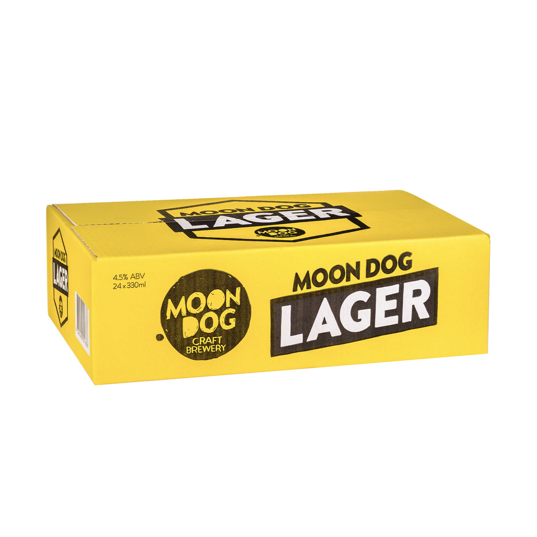 Moon Dog Lager Can 330ml 24 Pack