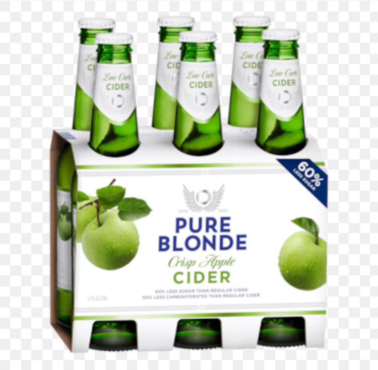 Pure Blonde Cider Organic Stubbie 355ml 6 Pack