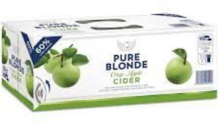 Pure Blonde Cider Organic 10pk Can 375ml