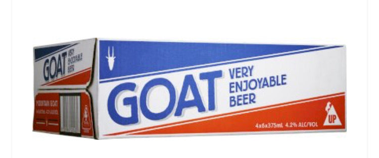 Goat Lager Beer Can 375ml 24 Pack