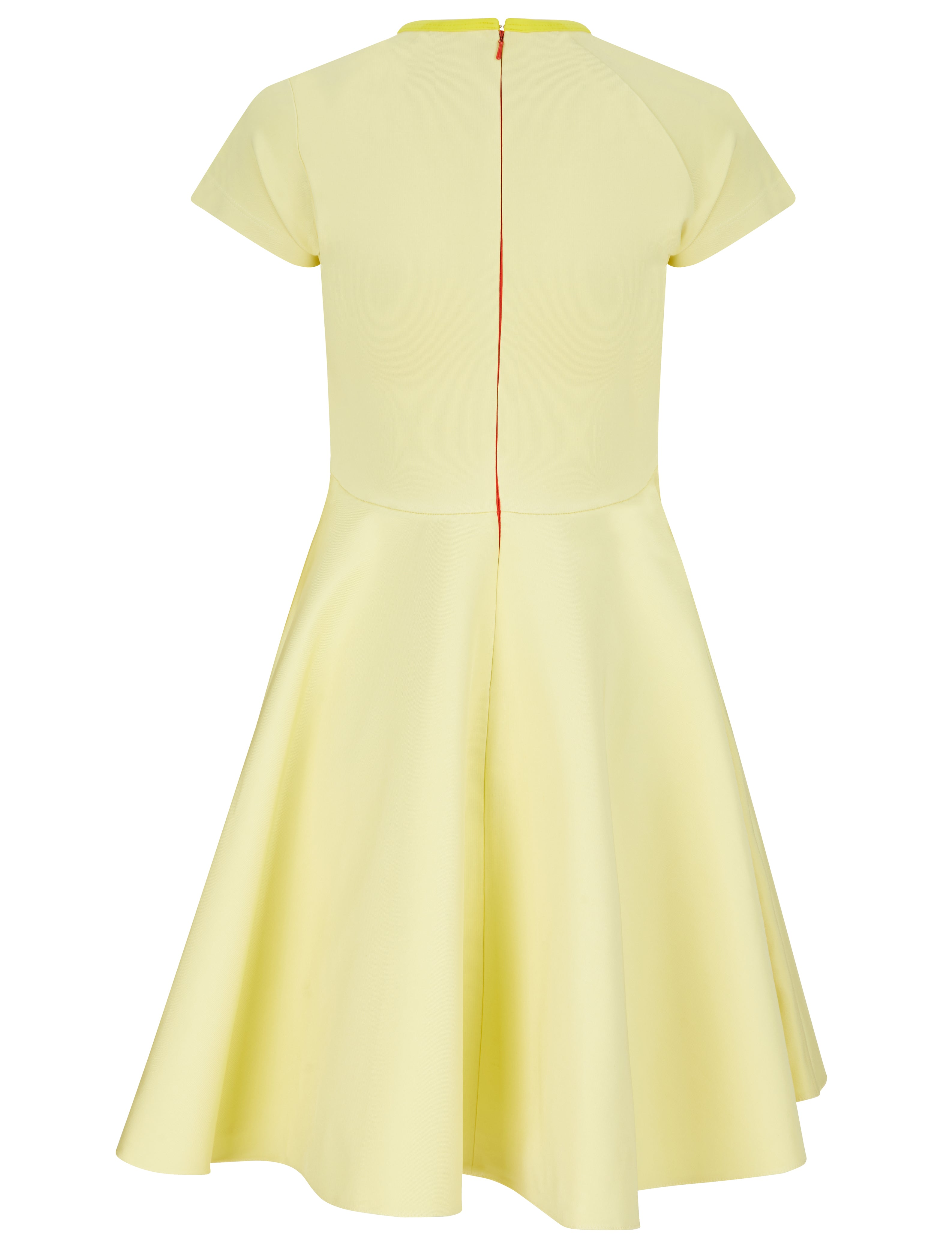 Naomie Crew Neck Dress (Yellow)