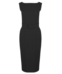 Holly Cowl Neck Dress (Black)