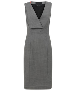 Kate Asymmetric Lapel Dress