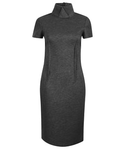 Thandie High Collar Dress
