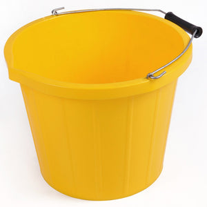 3 Gallon / 15 Litre Yellow Bucket With Lip