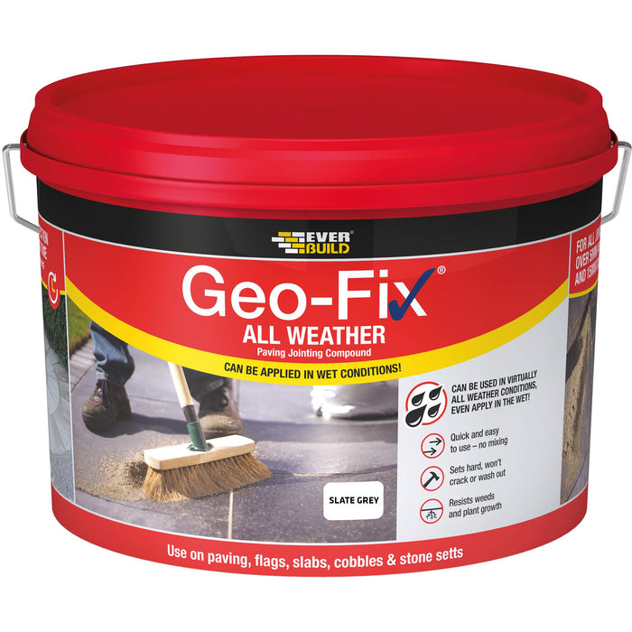 Geo-Fix All Weather Paving Jointing Compound - Slate Grey 14kg